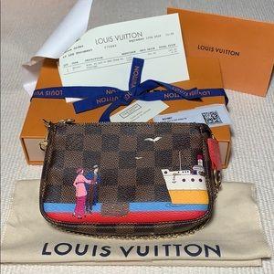 NEW Louis Vuitton Mini Pochette Accessoires Ebene